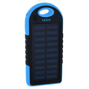 Xlayer Powerbank Solar 4000mAH in schwarz/blau