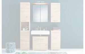 Spiegelschrank Amanda Asteiche-Nachbildung, inkl.LED-Beleuchtung
