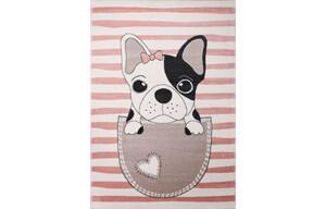 Teppich Bino ca. 160 x 230 cm Hund pink