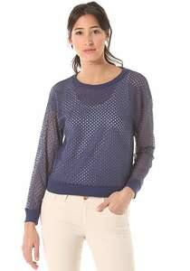 Rich & Royal Lace - Langarmshirt für Damen - Blau