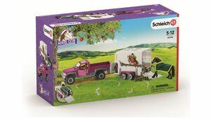 Schleich - Horse Club - Pick-up mit Pferdeanhänger