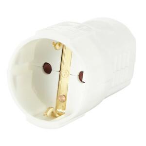 uniTec Kuppelung für Schukostecker in Weiß