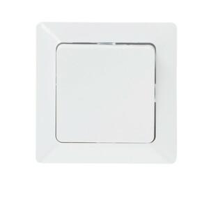 uniTec Wechselschalter mit Rahmen in Weiß