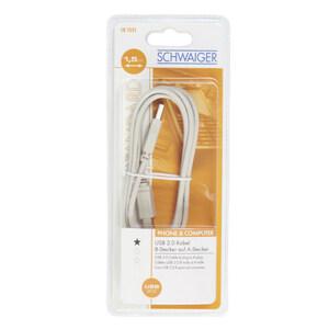 Schwaiger USB 2.0 Anschlusskabel 1,5 m