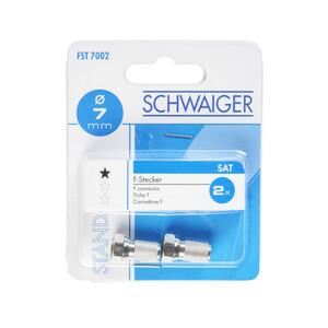 Schwaiger F-Stecker 2 Stück je 7 mm