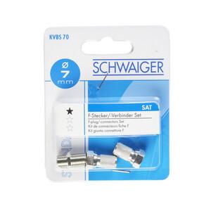 Schwaiger F-Verbinder 3-teilig 7 mm