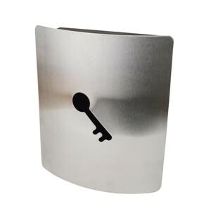 Schlüsselkasten 23 x 23 x 7 cm Edelstahl 9 Haken