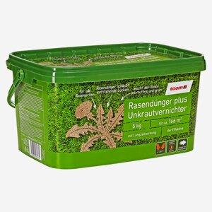 """toomEigenmarken -              toom Rasendünger plus Unkrautvernichter """"Der Effektive"""" 5 kg"""