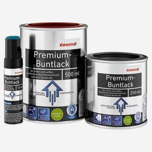 toomEigenmarken -              toom Premium-Buntlack seidenmatt tiefschwarz 250 ml