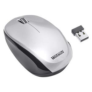 Watson Funkmaus M540, kabellos, 3 Tasten, Farbe: Silber