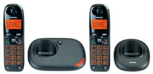 SWITEL DC5002, DECT-Telefon, Freisprecheinrichtung, 50 Eintragungen, Schwarz