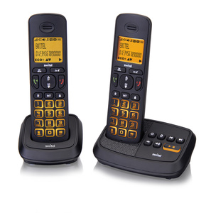 Switel Wizard DCT 59072 Duo TAM Schnurloses DECT-/GAP-Telefon-Set (2 Stationen)