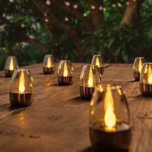 LED Solarleuchten Pedas 10 Stück Zehner-Set Lampenwelt Gartenleuchte Dekoleuchte