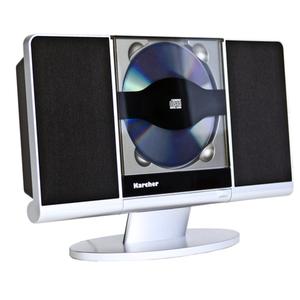 Karcher MC 6512 Kompaktanlage mit CD Player, vertikale Stereoanlage, UKW Radio, Wecker, USB Anschluss