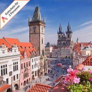 Kurzurlaub Prag 2  Hotels zur Auswahl Gutschein für 2 Personen mit Frühstück 3 Tage- Verfügbarkeit vorab online prüfbar - siehe Text