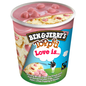 Ben & Jerry's Topped Love Is... Eis 470 ml