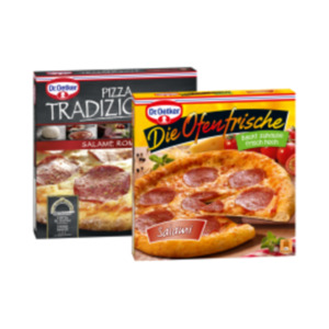 Dr. Oetker Steinofen-, Tradizionale-, Die Ofenfrische Pizza, Pizzaburger