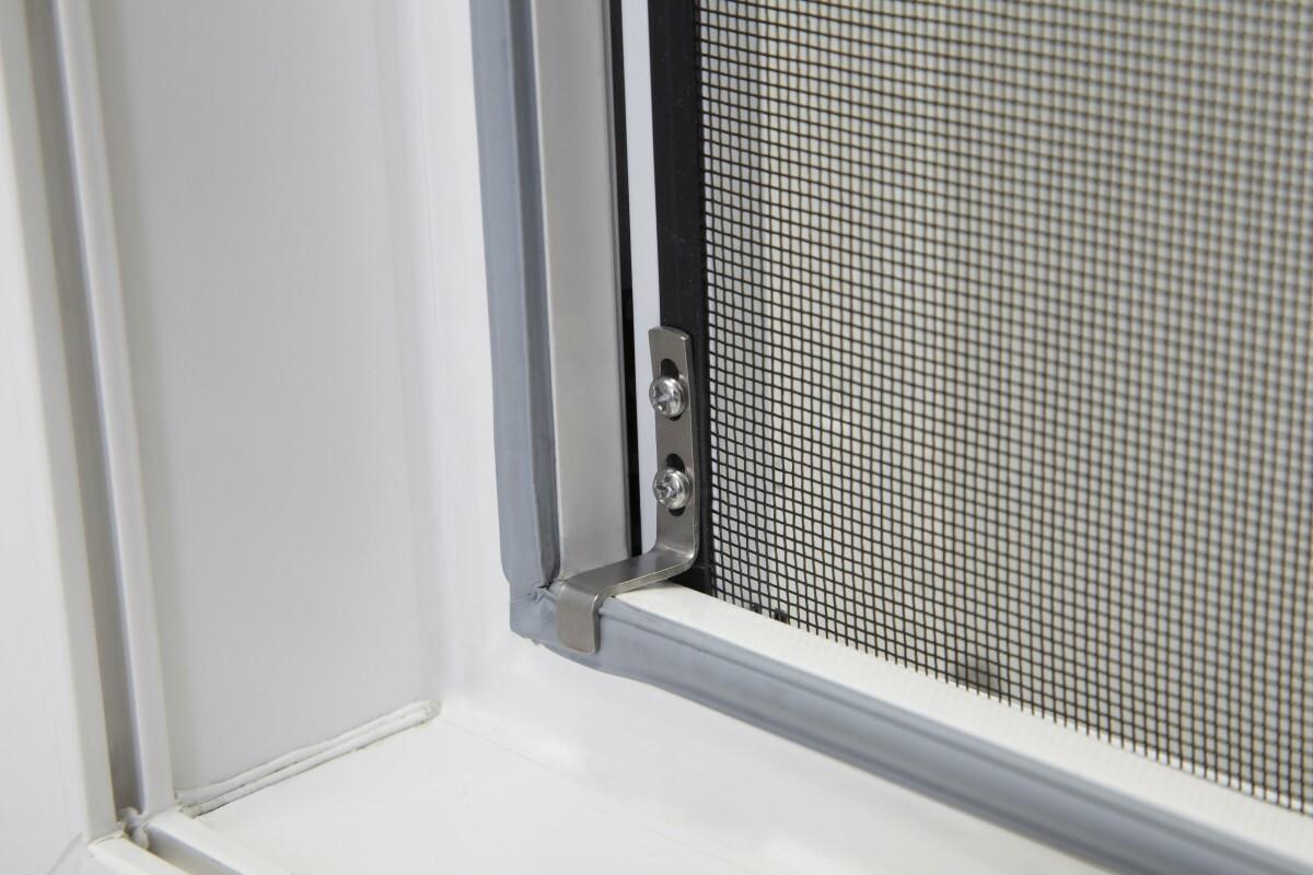Bild 2 von Powertec XXL Aluminium-Fliegengitter-Bausatz SLIM, ca. 130 x 220 cm, weiß