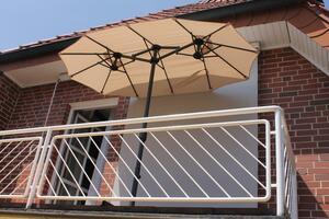 LECO - Balkon-Ovalschirm natur