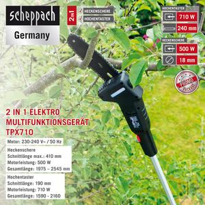 Scheppach 2in1 Multi Garden Tool TPX710 230V/50Hz