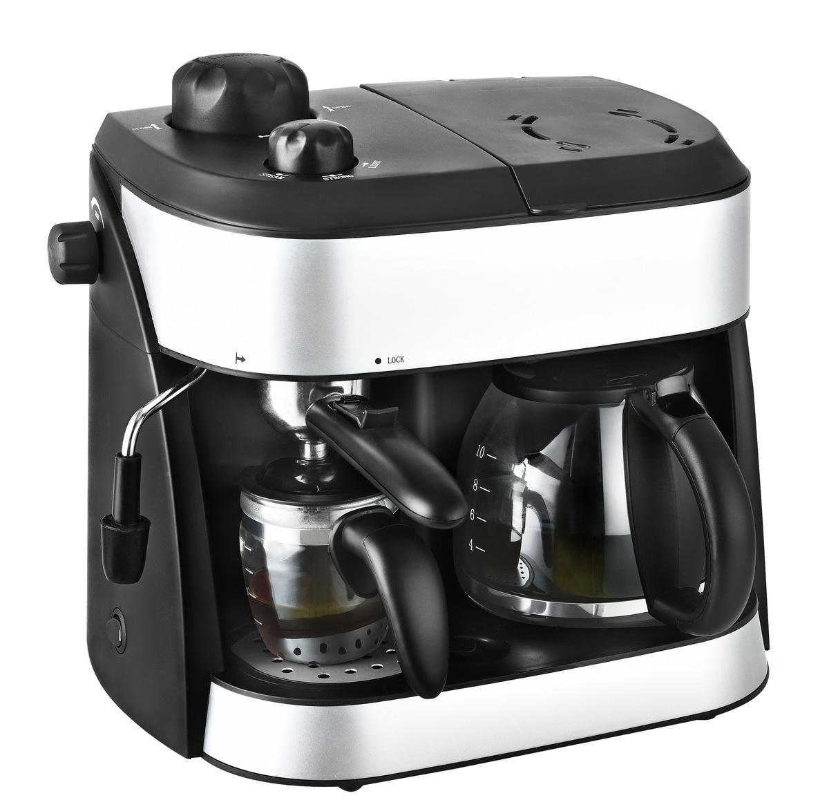 Bild 2 von Kalorik 2 in 1 Espresso- und Kaffeekombiautomat TKG EXP 1001 C mit Kaffee- und Espressokanne