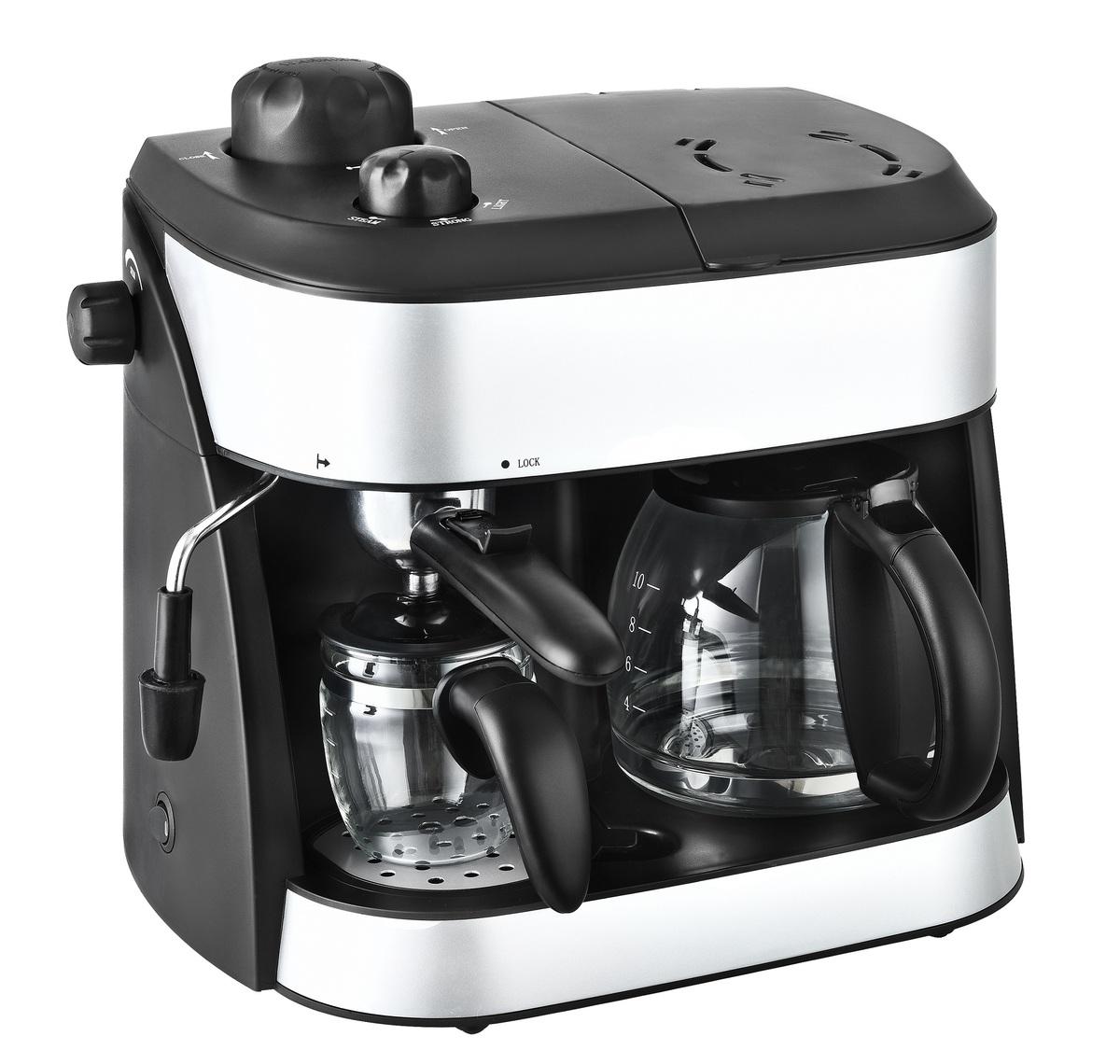 Bild 3 von Kalorik 2 in 1 Espresso- und Kaffeekombiautomat TKG EXP 1001 C mit Kaffee- und Espressokanne