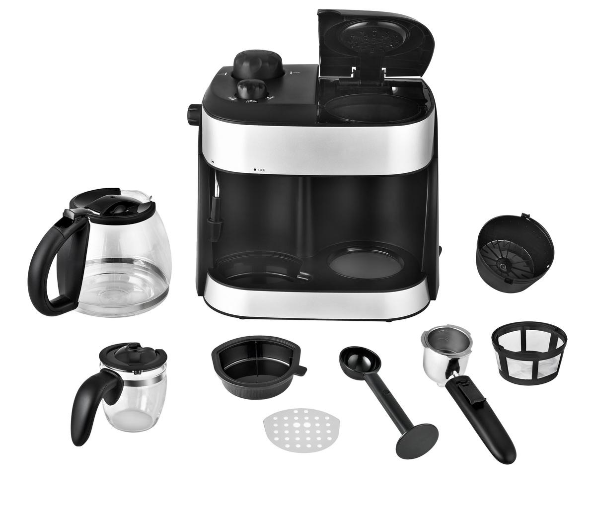 Bild 4 von Kalorik 2 in 1 Espresso- und Kaffeekombiautomat TKG EXP 1001 C mit Kaffee- und Espressokanne