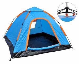 HI 3 Personen Automatik-Zelt mit Seilzugtechnik, Blau
