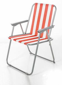 Solax Sunshine Camping Klappstuhl, Orange-Weiß gestreift
