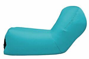 Air Lounger mit Kopfteil - blau
