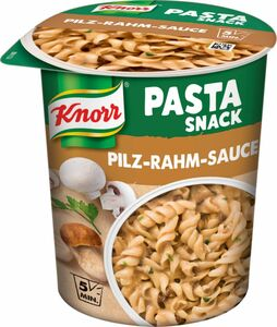 Knorr Snack Becher Nudeln in Pilz Rahm Sauce 70g