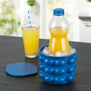 GOURMETmaxx Eiswürfelbehälter 3in1 blau