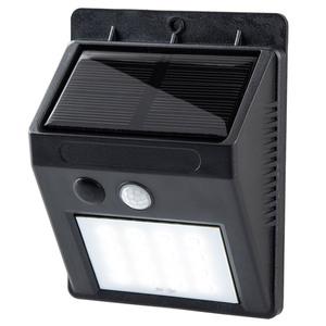 I-Glow Solar Wand- & Sicherheitsleuchte, schwarz