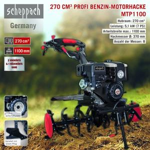 Scheppach Benzin-Motorhacke MTP1100
