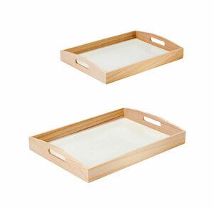 Deko-Tablett aus natürlichem Holz