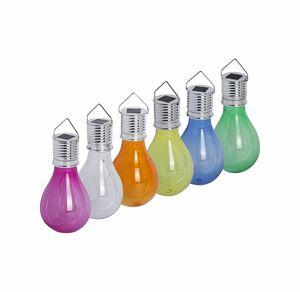 Solar-Glühbirne mit 4 LEDs, ca. 8x15cm