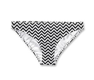 Bikini-Slip, schwarz-weiß