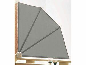 Grasekamp Sichtschutz Fächer 120x120cm Balkon  Trennwand Grau