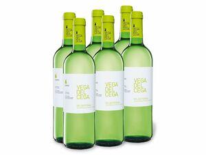 6 x 0,75-l-Flasche Weinpaket Vega del Cega Valdepeñas DO trocken, Weißwein