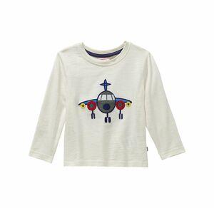 Liegelind Baby-Jungen-Shirt mit Flugzeug-Applikation