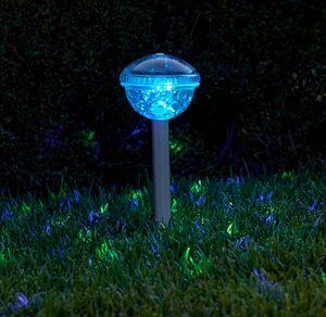 Solar-Partylicht mit Disco-Farbwechsel, ca. 10x10x34,5cm