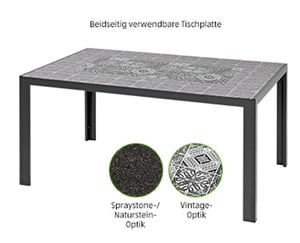 GARDENLINE®  Aluminium-Glastisch