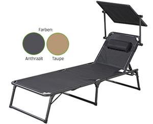 GARDENLINE®  Aluminium-Komfort-Sonnenliege
