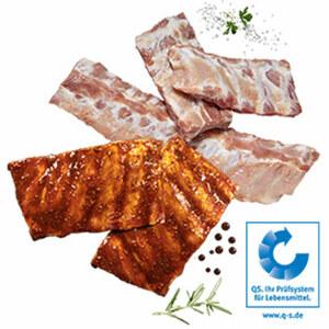 Frische Schälrippchen vom Schwein, natur oder mariniert, je 1 kg