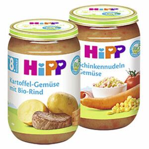 Hipp Menü ab 8./10. Monat, versch. Sorten, jedes 220-g-Glas