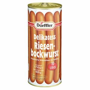 Dörffler Delikatess Riesenbockwurst  jedes 900-g-Glas