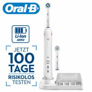 Zahnbürste Smart 4N · 3 Reinigungsmodi: tgl. Reinigung, Sensitiv, Aufhellen · 3-fache Andruckkontrolle · 2-min Professional-Timer (von Zahnärzten empfohlen) · inkl. 2 Aufsteckbürsten