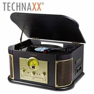 Nostalgie-Bluetooth®-Schallplatten-/CD- und Kassettendigitalisierer TX-103 • digitalisieren Sie Ihre alten Tonträger direkt auf USB-Stick oder SD-Karte • kein PC erforderlich, FM-Radio • CD-/