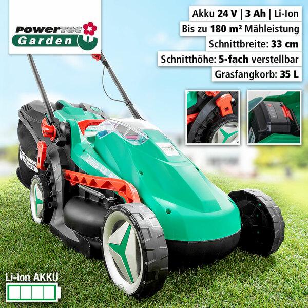 Powertec Garden Li-Ion Akku Rasenmäher PG 33 3.0S