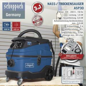 Scheppach Nass-/ Trockensauger ASP30